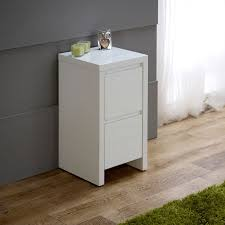 Fashionable Small White Bedside Table white high gloss slim