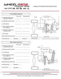 Wheel Measure Guide American Racing Classic Custom And