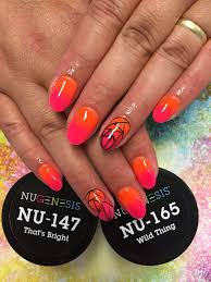 tall clothing ombre summernails with nugenesis dipping powder