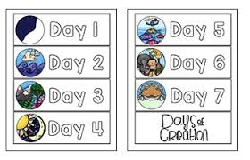 6 Days Of Creation Chart Creation Preschool Printables Christian Preschool Printables