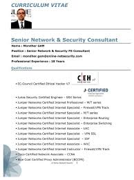 Certified Ethical Hacker Resume Certified Ethical Hacker Resume