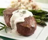 beef tenderloin with creamy gorgonzola sauce