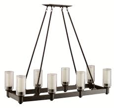rectangular dining room lighting. Hand Forged Hanging Black Rectangular Iron Chandeliers With 8 Glass Shades For Dining Room Lighting Ideas