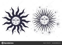 Faccia Del Sole Luna Stelle Tatuaggio Massonico Design Shirts