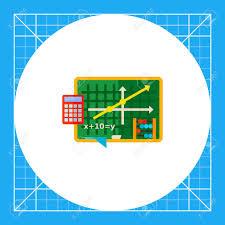 Green Blackboard With Graph And Equation Algebra School Calculator