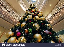 Decorating Christmas Tree With Balls Christmas Tree Decorated With Big Balls At The Hall Of A 7