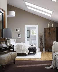 small bedroom with low ceiling