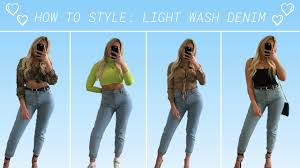 Light Wash Jeans Outfit How To Style Light Wash Denim Outfit Inspo