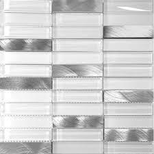 white glass aluminum matt glass mosaic tile wall backsplash contemporary mosaic tile by modbaron inc