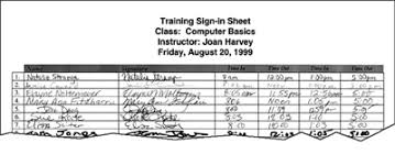 Training Sign In Sheet Template Infinite Although – Dacost.info