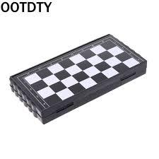 <b>1set Mini Portable</b> Chess Folding Magnetic Plastic Chessboard ...