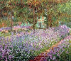 monet claude irises in monet s garden