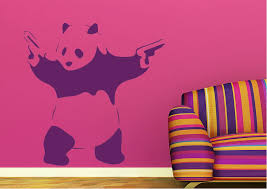 panda guns banksy panda guns wall stickers on panda wall art uk with banksy wall stickers wallartdirect uk
