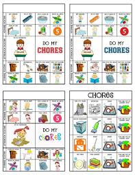 Morning Routine Chart For 5 Year Old Printable Chart Printable Chore Chart For 5 Year Old 1