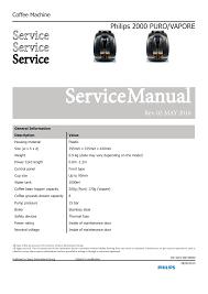Philips Saeco Xsmall Red Light Servicemanual Manualzz Com