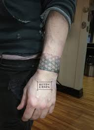 Tattoos Flower Of Life Bracelet Tattoo Done By Betsy Ebsen At