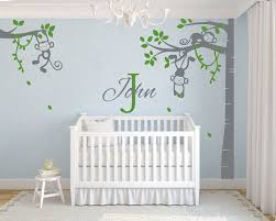 monkey tree wall decal with customized name