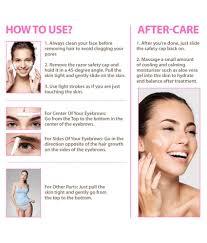 letsshave tinkle face hair removal razor for women pack of 5