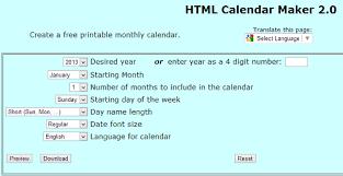 Clander Maker 6 Free Online Calendar Makers