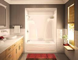 bathtub enclosure and units best one piece shower bathroom surround tub full size with installing one piece shower