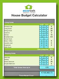 building a home budget calculate your eco house budget with this tool ecotek