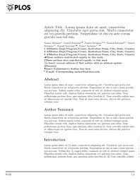 template for submissions to journal latex templates public library of science plos