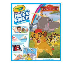Crayola Mess Free Color Wonder Lion Guard 18 Coloring Pages Art