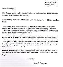 en letter letter of grievance 3 1 image hunter s thompson writes a blistering over the top letter to patriotexpressus