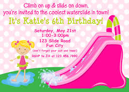 printable birthday invitation cards invitations birthday invitations so many people will come waterslide girl