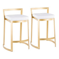 white leather counter stools to enlarge