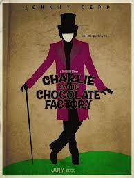 Charlie et la chocolaterie avec jonnhy depp | Affiche minimaliste, Charlie  et la chocolaterie, Affiche vintage