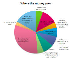 2013 Us Budget Pie Chart The Pie Chart Gives Information On Uae Government Spending