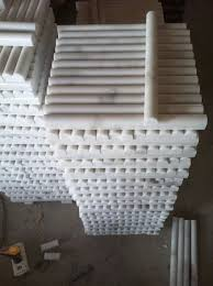 guangxi white marble stone pencil liner for décor wall tiles