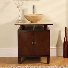 modern sink vanity. Beautiful Sink Silkroad Exclusive Modern Sink Vessel Bathroom Vanity With Powder Room  Cabinet 29Inch Throughout