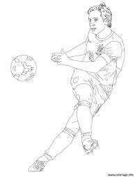 Coloriage Frank Lampard Joueur De Foot Dessin
