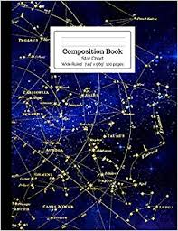 Star Chart Book Composition Book Star Chart Wide Ruled Starchild