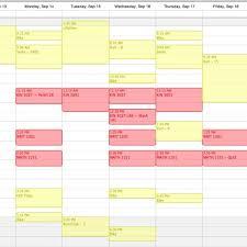 Course Schedule Maker Cute Class Schedule Maker Printable Receipt Template In Cute