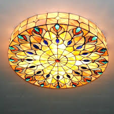 stained glass hanging light vintage stained glass hanging light