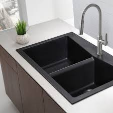 Drawbacks A Black Kitchen Sink Cheap Farmhouse Sink Home Depot
