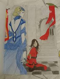 pin by hannah aries on red queen coloring book