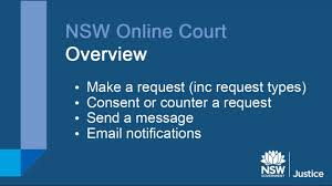 about online court nsw online registry how to make counter and consent requests in online court
