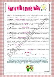 How To Write A Movie Review How To Write A Movie Review Esl Worksheet By Ana B