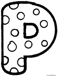 Polka Dot Letter G Colouring Pages Ideas For The House Alphabet