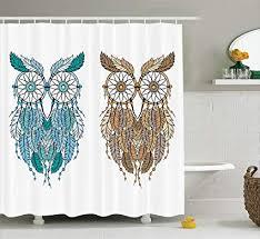 Owl Home Decor Accessories Gorgeous Amazon Ambesonne Owls Home Decor Shower Curtain Set