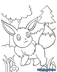 Coloring Pages For Kids Pokemon Eeveelution Artigianelliinfo