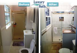Small Picture Small Bathroom Renovation Before And After Get Inspired by Small