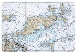 Bvi Navigation Charts Bvi Tortola Bvi Nautical Chart Memory Foam Bath Mat