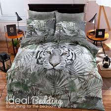 home white tiger duvet set and pillowcase bedding set previous next