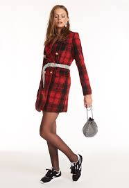Image result for WINE RED PLAIDS GOWN