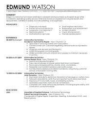 Sample Tech Resume Automotive Technician Resume Sample Sample B Tech